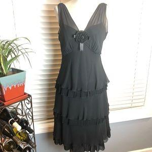 Liz Claiborne black cocktail/flapper dress. Sz 10